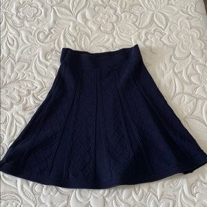 Brooks Brothers Cable Knit Navy mini Swing Skirt
